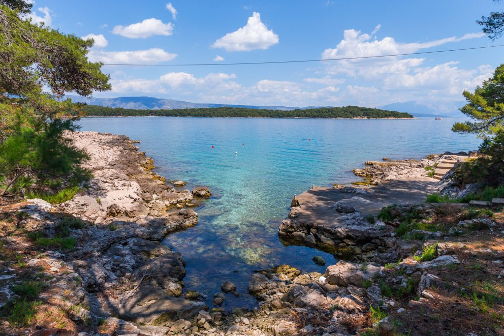 Due to many bays and coves,Croatian shoreline is among the three most indented in Europe.The Adriatic Sea is relatively shallow, with an average depth of about 173 meters. The north part is shallower than 100 meters, and the deepest part (1,228 m) is in the south.