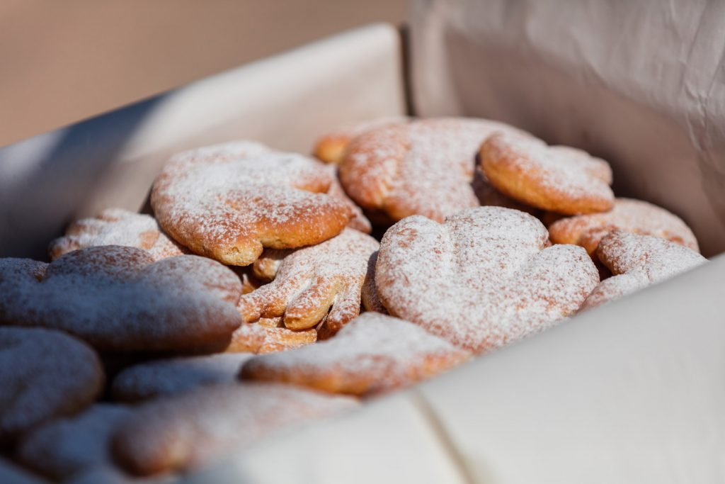 Hvarski cviti (Hvar flowers) - traditional Hvar cookies - like in case of other traditional cookies the basic recipe is the same for all of them, but every family has its own variation. Origin of ingredients, ratios, secret ingredients, specific flavoring are not revealed.