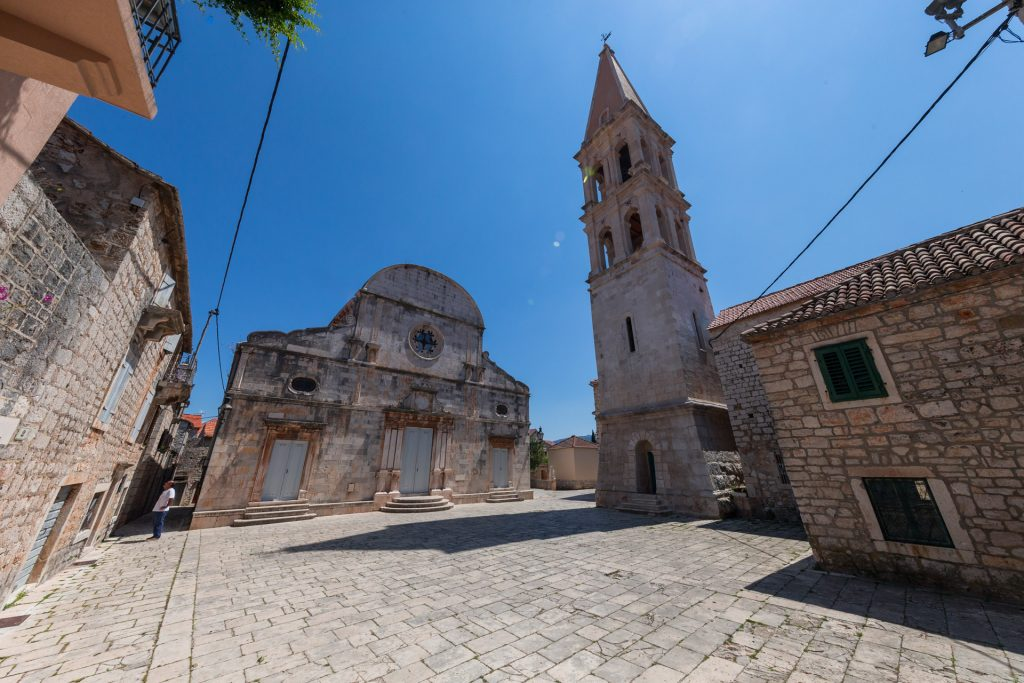 The parish church of St. Stephen (built in 1605 at the place where was first Hvar cathedral).