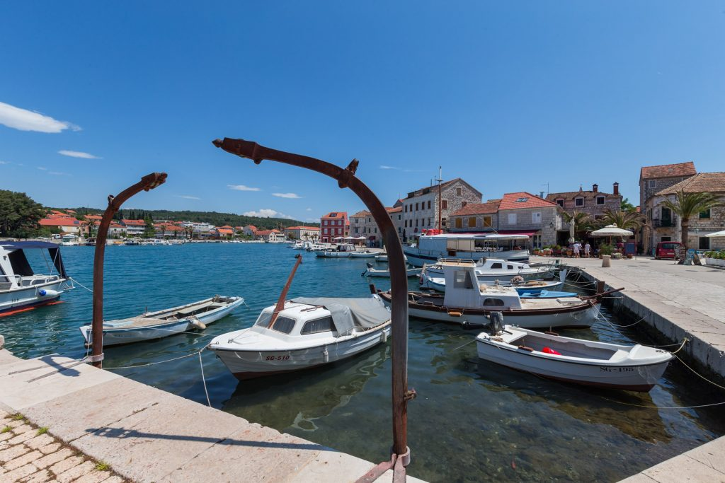Stari Grad (ancient Pharos) is a town and a harbor at the end of the four nautical mile long bay on the northern side of the island of Hvar.